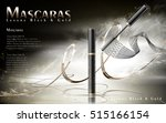luxury mascaras ads  black and... | Shutterstock .eps vector #515166154