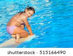 real toddler girl at swimming... | Shutterstock . vector #515166490