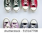 blue sneakers purple sneakers... | Shutterstock . vector #515167708