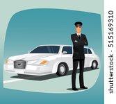 chauffeur  driver of luxury car ...   Shutterstock . vector #515169310