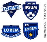 football logo badge isolated in ... | Shutterstock .eps vector #515172364
