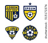 football logo badge isolated in ... | Shutterstock .eps vector #515172376