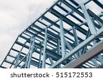 structure of steel roof frame... | Shutterstock . vector #515172553