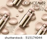 perfect concealer ads ... | Shutterstock .eps vector #515174044
