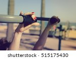 woman doing fitness street...   Shutterstock . vector #515175430