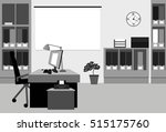 office workplace in black and... | Shutterstock .eps vector #515175760