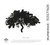black tree silhouette on a... | Shutterstock .eps vector #515177620