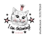 Cute Cat Princess Illustration...