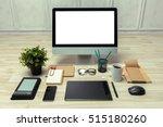 working place of designer ... | Shutterstock . vector #515180260