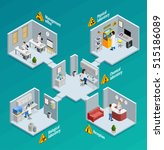 laboratory concept with... | Shutterstock .eps vector #515186089
