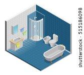 bathroom interior isometric