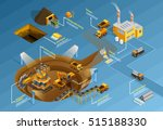 mining infographic set with... | Shutterstock .eps vector #515188330