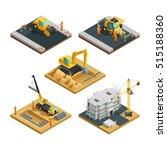 isometric building and road... | Shutterstock .eps vector #515188360
