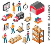 logistics and delivery... | Shutterstock .eps vector #515188609