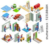 home repair isometric icons set ... | Shutterstock .eps vector #515188684