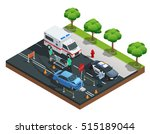 isometric road accident... | Shutterstock .eps vector #515189044