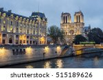 panoramic view of notre dame in ... | Shutterstock . vector #515189626