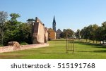 old city wall and church in the ...   Shutterstock . vector #515191768