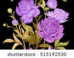 peonies seamless floral pattern.... | Shutterstock .eps vector #515192530