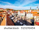 aerial view on the old town... | Shutterstock . vector #515193454