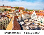 aerial view on the old town... | Shutterstock . vector #515193550