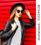 portrait stylish young woman in