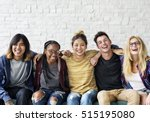 diversity students friends... | Shutterstock . vector #515195080