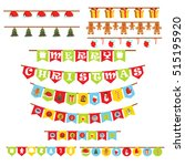 merry christmas and happy new...   Shutterstock .eps vector #515195920