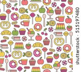 seamless pattern with sweets... | Shutterstock .eps vector #515197480