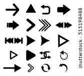 arrow vector button icon set... | Shutterstock .eps vector #515198488