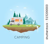 camping and hiking. summer... | Shutterstock .eps vector #515200003