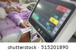 Stock photo the vital monitor show a heart rate from the old man at hospital 515201890
