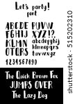 hand made font 'let's party '.... | Shutterstock .eps vector #515202310