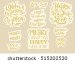 collection of holiday christmas ... | Shutterstock .eps vector #515202520