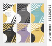 collection of templates for... | Shutterstock .eps vector #515203918