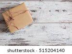 gift on old wooden floor....   Shutterstock . vector #515204140