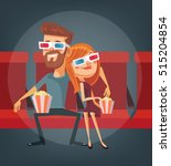 couple watching movie. man and... | Shutterstock .eps vector #515204854