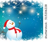 christmas background with... | Shutterstock .eps vector #515206228