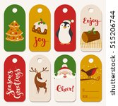 christmas vector labels with... | Shutterstock .eps vector #515206744