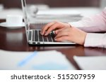 close up of business woman... | Shutterstock . vector #515207959