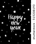 happy new year card with hand... | Shutterstock .eps vector #515208193