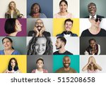 diverse people smiling... | Shutterstock . vector #515208658