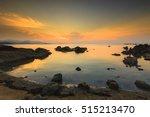 coral rock beach at sunset koh... | Shutterstock . vector #515213470
