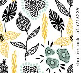colorful seamless floral... | Shutterstock .eps vector #515216239