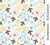 seamless floral pattern with... | Shutterstock .eps vector #515216314