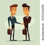 two businessmen characters... | Shutterstock .eps vector #515216350