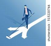 an employee stands at a... | Shutterstock .eps vector #515220766