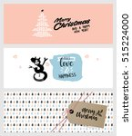 set of christmas and new year...   Shutterstock .eps vector #515224000