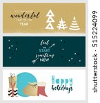 set of christmas and new year... | Shutterstock .eps vector #515224099