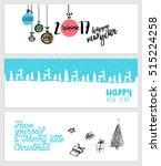 set of christmas and new year... | Shutterstock .eps vector #515224258